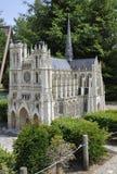 Elancourt F, le 16 juillet : Le ` Amiens de Cathedrale D dans la reproduction miniature des monuments se garent des Frances Image stock