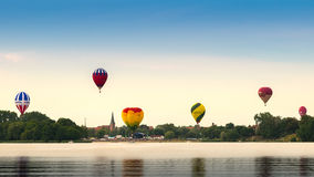 Elandenpanorama met ballons Royalty-vrije Stock Foto's