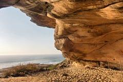 从Elands岩石艺术洞的看法 库存照片