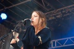 Elane. German medieval folk rock band ELANE at BURGFOLK festival 2010 royalty free stock photography
