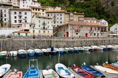 Elantxobe. Basque Country. ELANTXOBE, SPAIN - JULY 3: The small port of Elantxobe. in the Basque Country July 3, 2013 in Elantxobe, Biscay, Spain Royalty Free Stock Photo