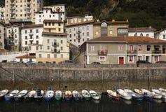Elantxobe Bizkaia,巴斯克地区,西班牙港  免版税库存照片