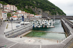 Elantxobe. SPAIN - JULY 3: The small port of . in the Basque Country July 3, 2013 in , Biscay, Spain Stock Photography