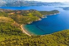 Elaphites nahe Dubrovnik stockbilder