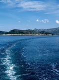 Elaphiti Islands scenic. One of the Elaphiti Islands seen northwest of Dubrovnik from Adriatic sea Stock Image