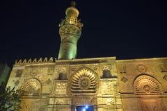 ElAqmar清真寺在晚上,开罗(埃及) 免版税库存图片