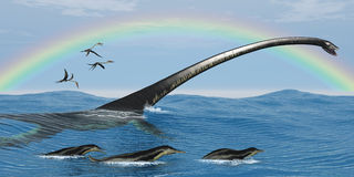 Elasmosaurus Marine Reptile Royalty Free Stock Photo