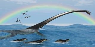 Elasmosaurus Marine Reptile Royalty Free Stock Photo