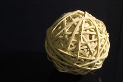 Elastic. Ball in black background royalty free stock photos
