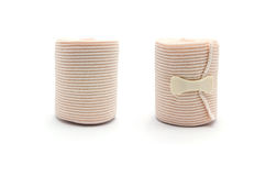 Elastic ACE compression bandage warp unwrapped Royalty Free Stock Photos