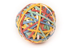 Elastic Band Ball. A large ball created from multicolored elastic bands Stock Photography