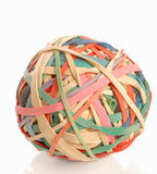 Elastic band ball Stock Images