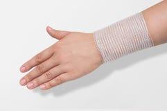 Bandage on the forearm stock image