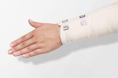 Elastic bandage on the forearm Royalty Free Stock Photos