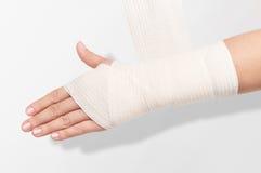 Elastic bandage on the hand Royalty Free Stock Photography