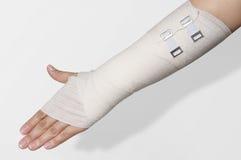 Elastic bandage on hand Royalty Free Stock Image