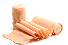 Elastic bandage isolate on white background. The Elastic bandage isolate on white background Royalty Free Stock Photos