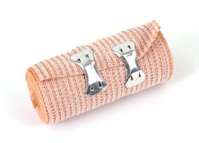 Elastic bandage with metal clips Stock Photo
