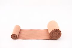 Elastic bandage roll for patient with the white background Royalty Free Stock Image