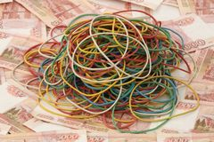 Elastic bands Stock Image