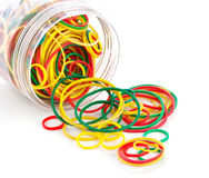 Elastic bands in bank royalty free stock image