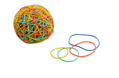 Elastic bands for money. Gum for money on Blom background, closeup royalty free stock images
