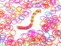 Elastic bands used to make jewellery. Stock Images