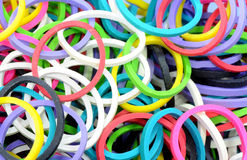 Elastic Colorful rubber bands Stock Photos