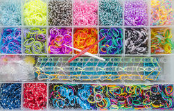 Elastic loom bands royalty free stock photography