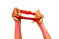 Elastic resistance band Royalty Free Stock Photos
