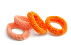 Elastic rings for hair Royalty Free Stock Images