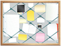 Elasticated pinboard Stock Image
