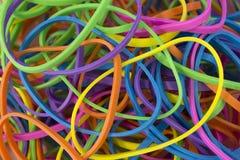 Elastici elastici colorati neon fotografia stock