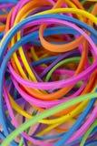 Elastici elastici colorati neon fotografie stock