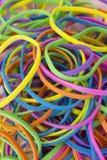 Elastici elastici colorati neon fotografie stock libere da diritti