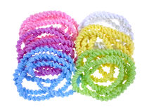 Elasticized Pony Tail Holders Group. A group of elasticized crinkled chenille pony tail holders Stock Images