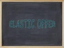 Elastisches Angebotfleisch geschrieben auf eine Tafel Lizenzfreie Stockfotografie
