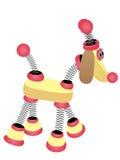 Elastisches Karikatur-Roboter-Hundegehen Lizenzfreie Stockfotos