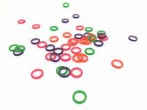 Elastisk gummiband för tänder arkivbilder