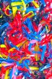 Elastisk musikband i färgrikt gummi Royaltyfri Bild