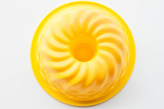 Elastyczna krzem forma dla piec tort na białym backgro Fotografia Royalty Free
