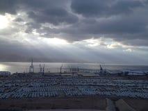 Elat port Royaltyfria Bilder