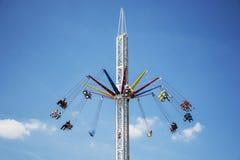 Free Elavated Spinning Fairground Ride Royalty Free Stock Photos - 121509288