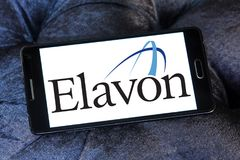Elavon payment systems logo. Logo of Elavon payment company on samsung mobile. Elavon Inc., formerly NOVA, is a processor of credit card transactions and a Royalty Free Stock Photos