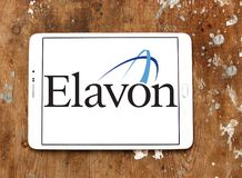 Elavon payment systems logo. Logo of Elavon payment company on samsung tablet. Elavon Inc., formerly NOVA, is a processor of credit card transactions and a Stock Photography