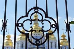 Żelaza grille kościół Obrazy Stock