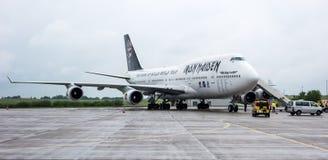 Żelazna dziewczyny Boeing 747 Ed siła Jeden Obrazy Stock