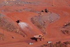 żelazna górnicza kruszec Fotografia Stock