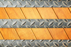 Żelazna i drewniana podłoga Obrazy Stock