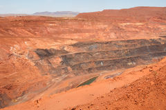 Żelazna kopalnia Zdjęcia Stock